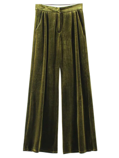 Pantalon En Velours à Jambes évasées - S