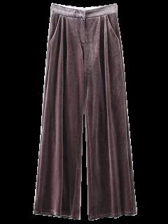 Pantalon En Velours à Jambes évasées - Pourpre S