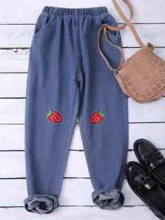 Embroidered Heram Jeans - Blue Xl