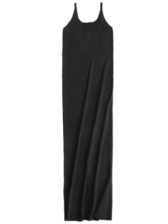 Cami Slit Sweater Dress - Black S
