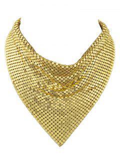 Collar Collar De La Falsificación Del Metal - Dorado