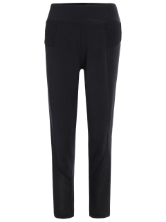 Mesh Insert Capri Leggings - Black M