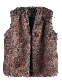Faur Fur Winter Vest - Brown S