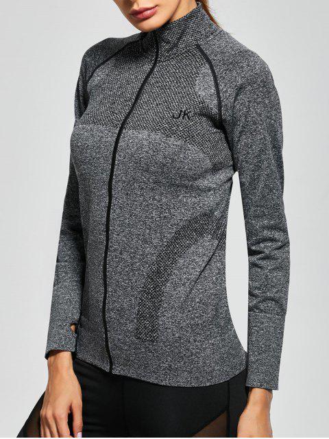 Veste sportif à capuche zippée desséchant facilement - Gris L Mobile