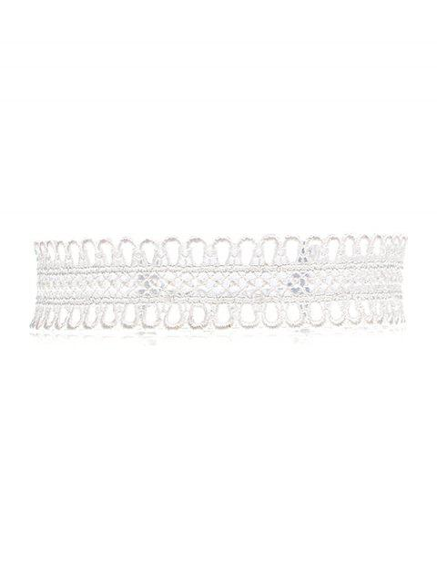sale Lace Crochet Choker Necklace - WHITE  Mobile