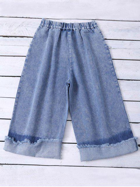 outfits Ombre Wide Leg Jeans - BLUE S Mobile