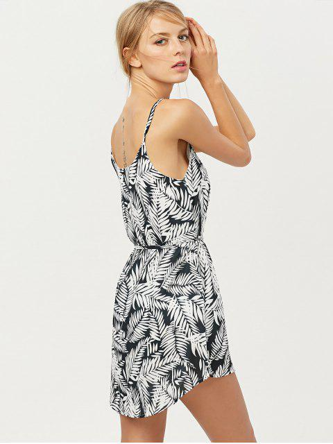 buy Tropical Print High Low Cami Dress - FLORAL S Mobile