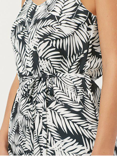 womens Tropical Print High Low Cami Dress - FLORAL XS Mobile