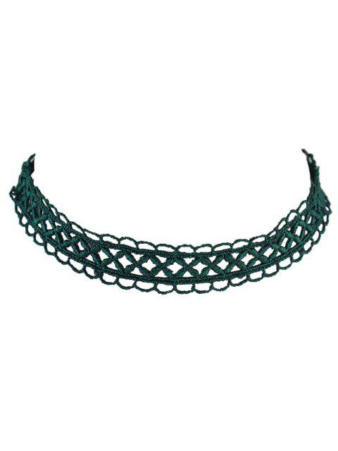 chic Letter Lace Choker - GREEN  Mobile