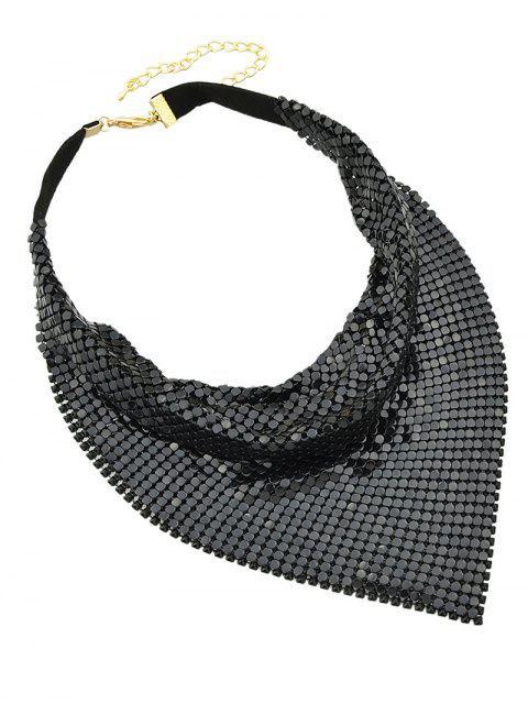 sale Metal Fake Collar Necklace - BLACK  Mobile