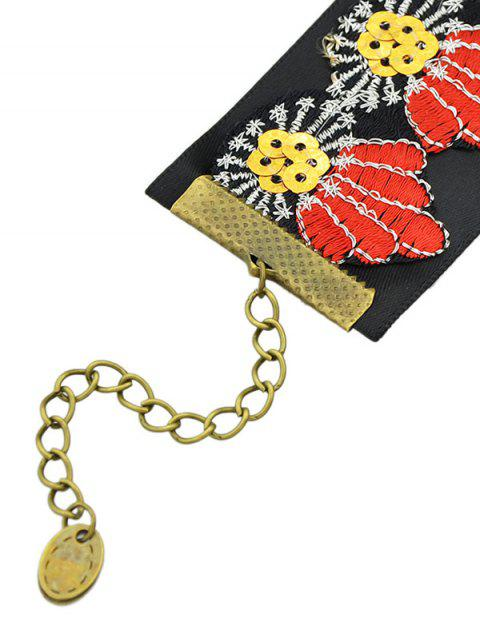 affordable Embroidered Wide Choker -   Mobile