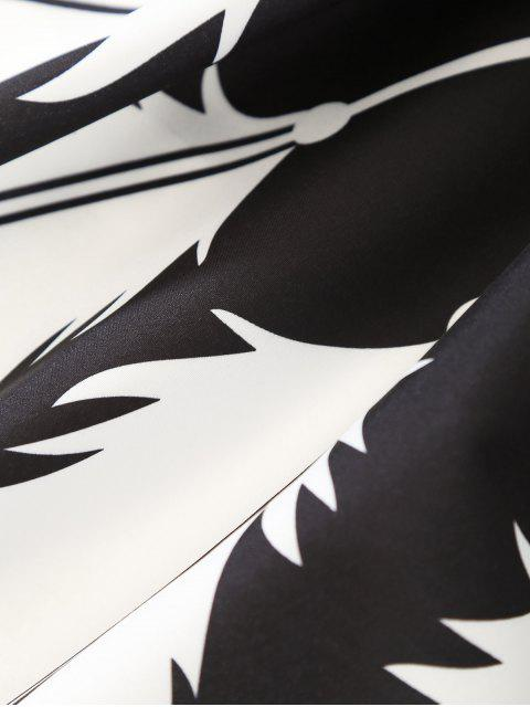 sale Feather Printed Sarong Beach Throw - BLACK ONE SIZE Mobile