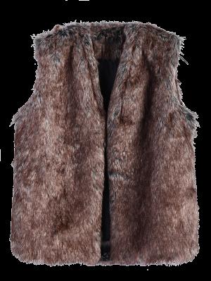Faur Fur Winter Vest - Brown Xl