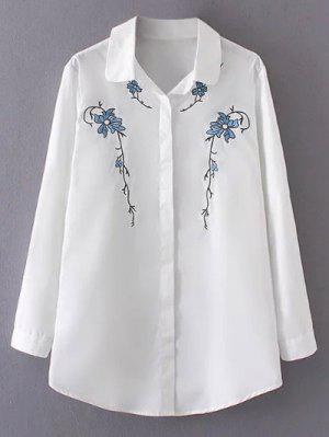 Plus Size Shirt Orchid Bordado - Branco 3xl