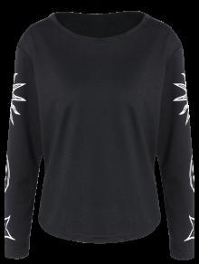 Sun Print Long Sleeve T-Shirt - Black L