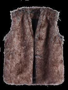 Faur Fur Winter Vest - Brown L