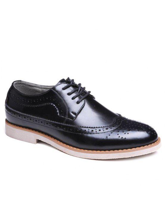 قمة الجناح بو الجلود أحذية رسمية - أسود 41