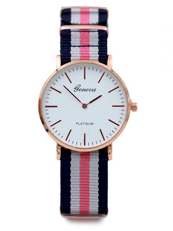 best Striped Analog Quartz Watch - PINK