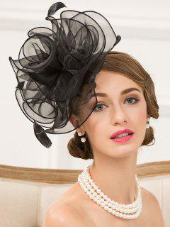 Organza Fascinator Hairband Hat - Black