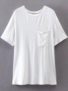 Pocket Boyfriend Tee - White S