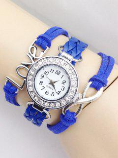 Love Braided Quartz Bracelet Watch - Blue