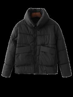 Veste Matelassée à Col Montant Avec Poches - Noir M