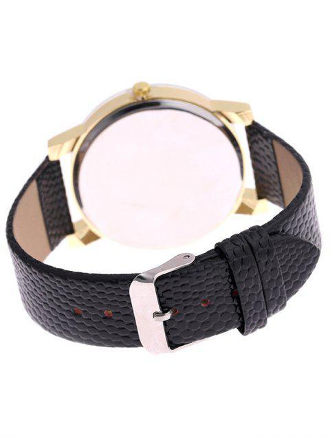 fancy Snakeskin Pattern Faux Leather Analog Watch - WHITE  Mobile