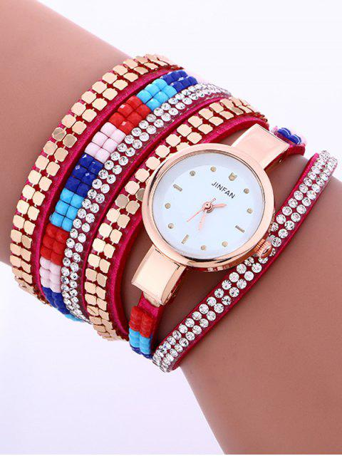 outfit Layered Studded Bracelet Watch - TUTTI FRUTTI  Mobile