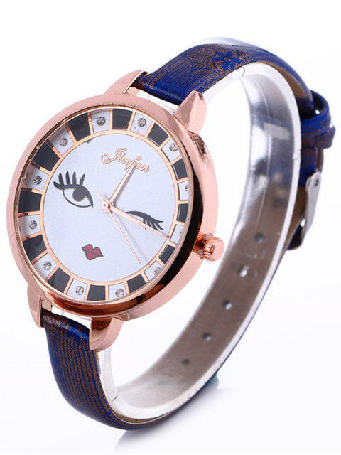buy Rhinestone Cartoon Quartz Watch - BLUE  Mobile