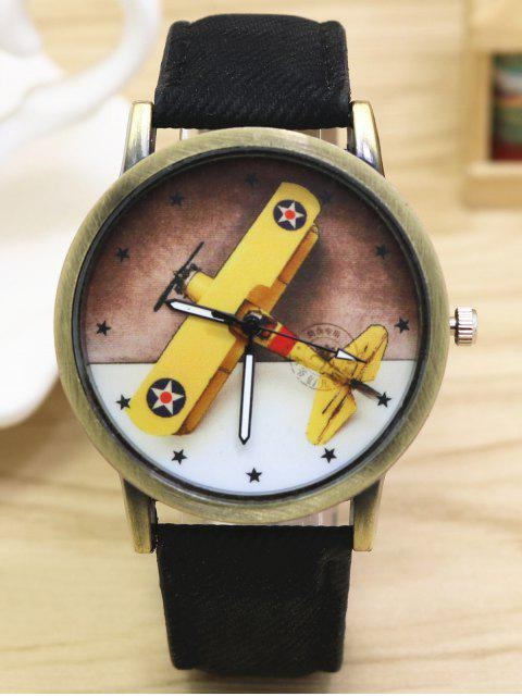 fancy Cartoon Airplane Quartz Watch -   Mobile