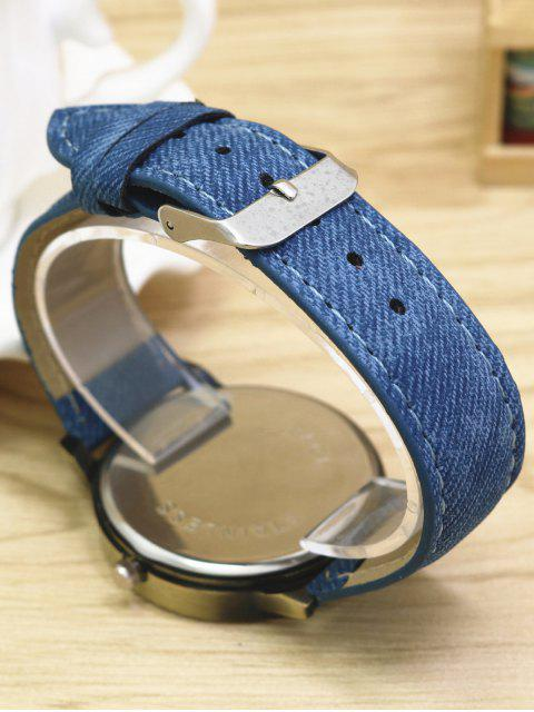 womens Cartoon Airplane Quartz Watch - BLUE  Mobile