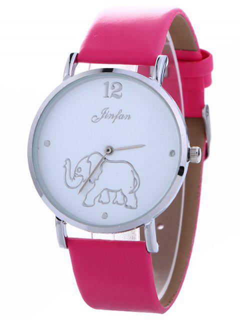 ladies Faux Leather Elephant Quartz Watch - TUTTI FRUTTI  Mobile