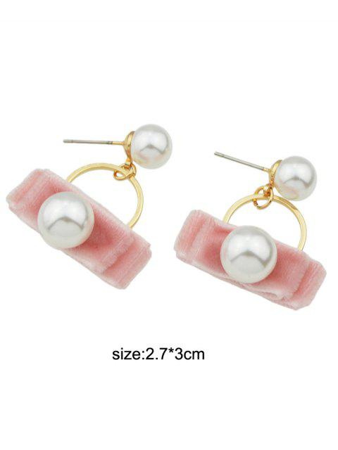 outfit Faux Pearl Velvet Earrings -   Mobile