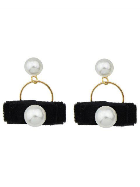 sale Faux Pearl Velvet Earrings -   Mobile