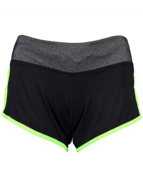 sale Elastic Piped Running Shorts -   Mobile