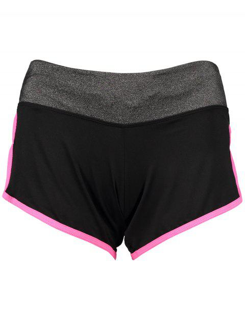 womens Elastic Piped Running Shorts -   Mobile