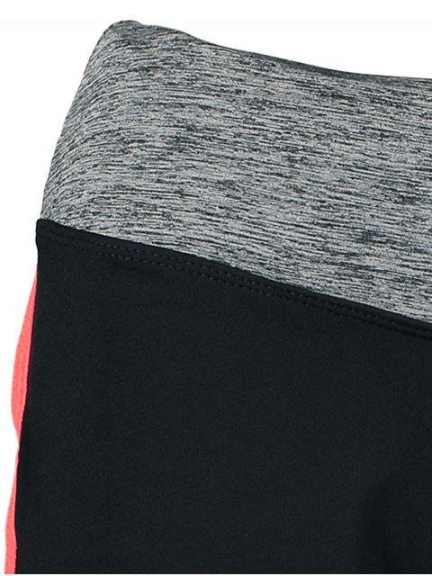 ladies Elastic Piped Running Shorts -   Mobile