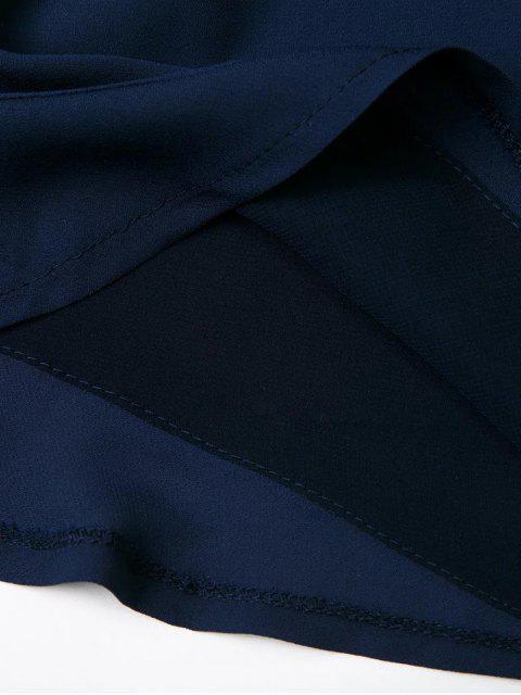 fancy Embroidered Surplice Cami Romper - BLACK S Mobile