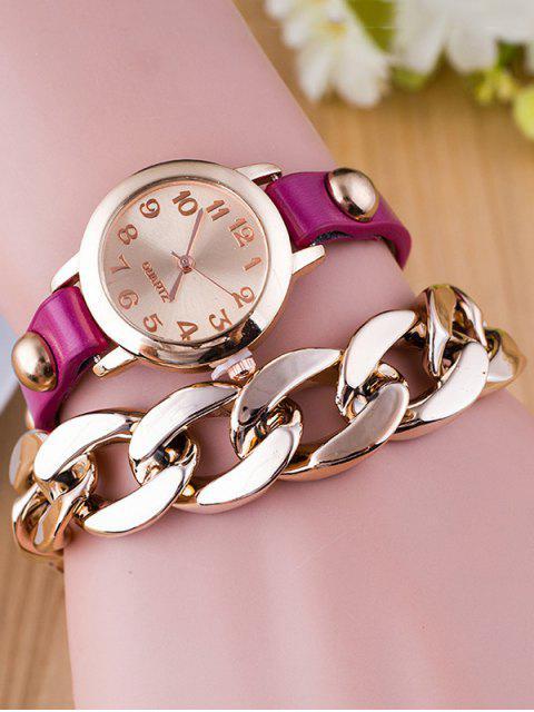 sale Chain Quartz Bracelet Watch - PURPLE  Mobile