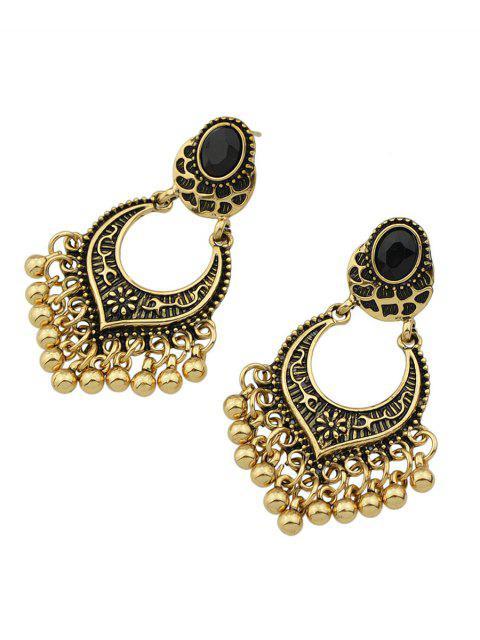 women Bead Tassel Drop Earrings -   Mobile