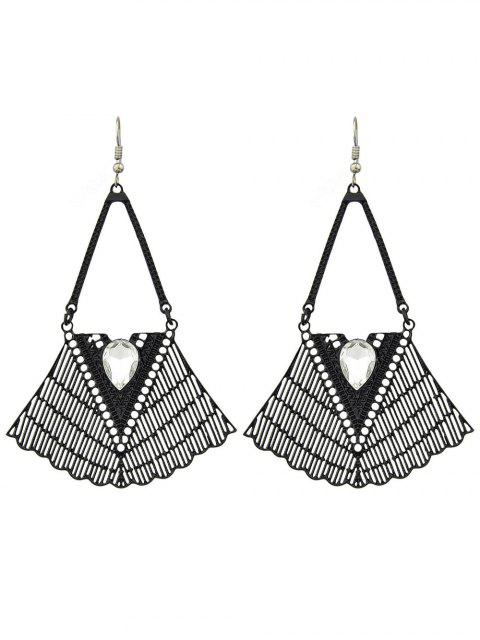 best Faux Gemstone Geometric Vintage Drop Earrings -   Mobile