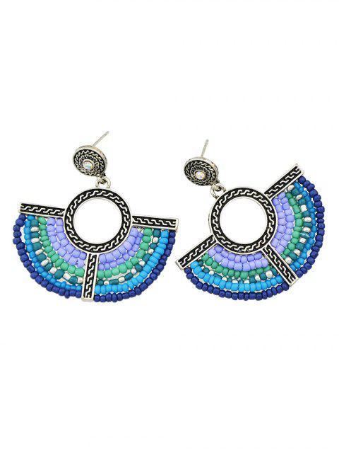 new Bohemian Circle Beads Drop Earrings -   Mobile