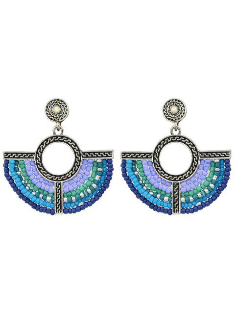 new Bohemian Circle Beads Drop Earrings -   Mobile