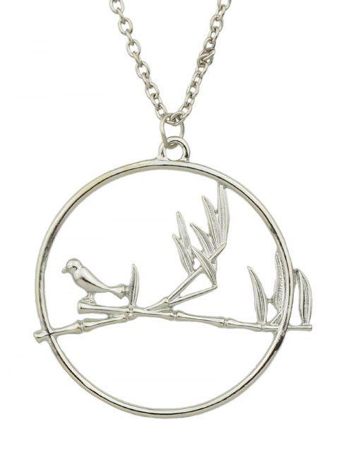 shop Circle Bird Pendant Necklace -   Mobile