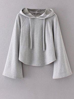 Slouchy Flare Sleeve Pullover Hoodie