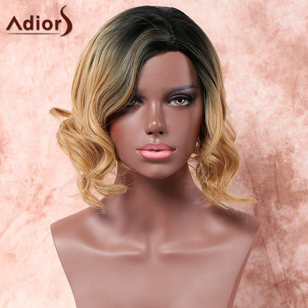 Adiors Medium Side Parting Shaggy Wavy Colormix Synthetic Wig 206917701