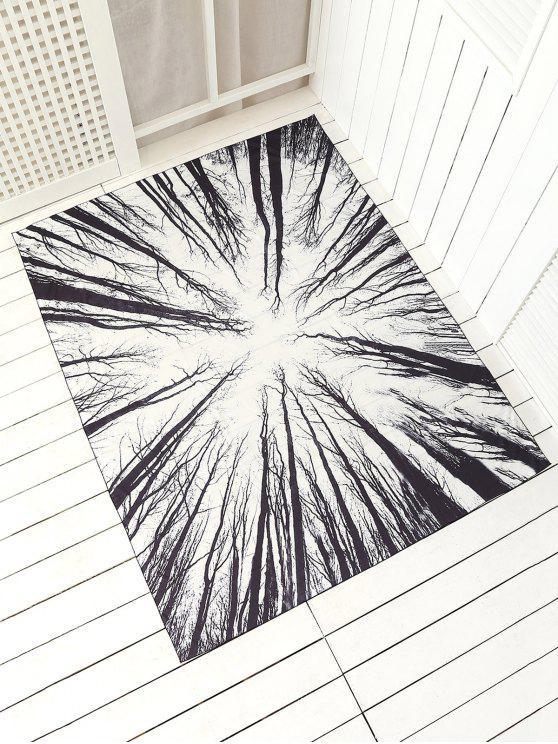 Serviette de plage rectangulaire imprimée - Blanc TAILLE MOYENNE