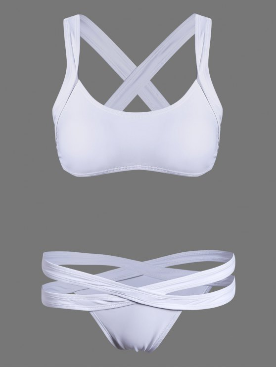 Bikini Deportivo Escotado - Blanco M