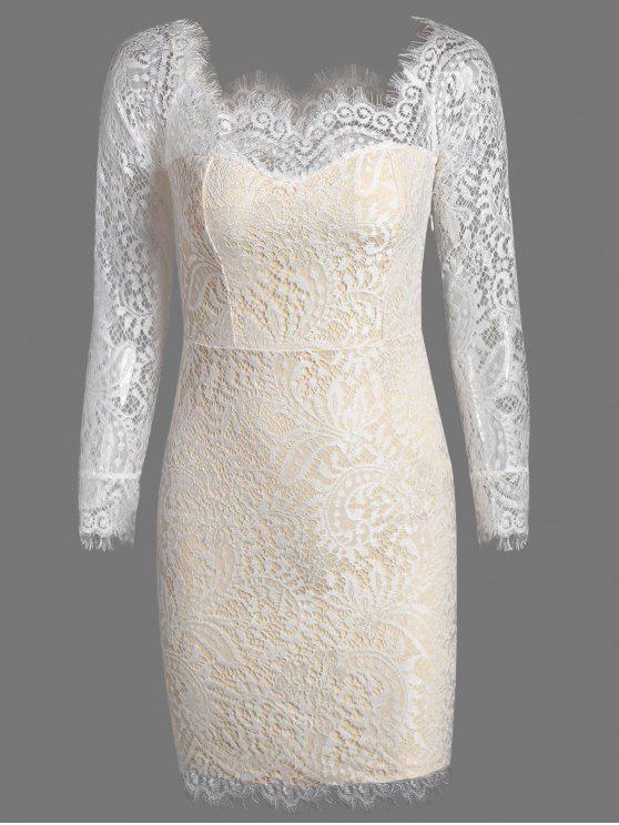 Off The Shoulder Bodycon vestido de renda - Palomino S