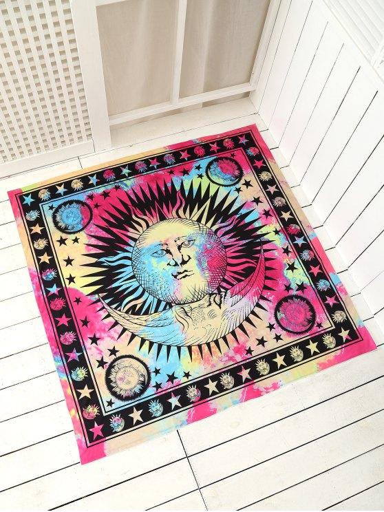 Plage jet serviette de tapis carrée multicolore - Multicolore TAILLE MOYENNE